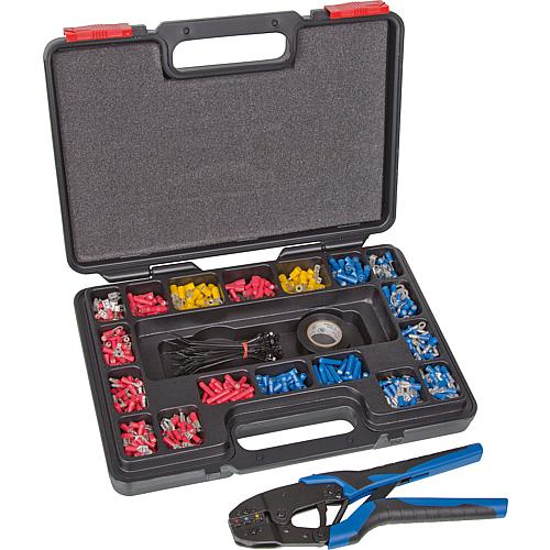 Cable lug assortment, 552 pieces with crimping tool Standard 1
