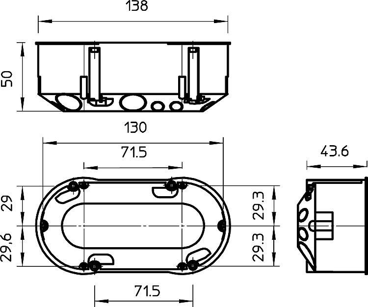 tbs doppel ger tedose hohlwand typ hg 60 2. Black Bedroom Furniture Sets. Home Design Ideas
