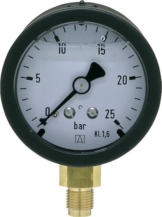 tbs rohrfeder manometer 50 mm dn 6 1 8 radial. Black Bedroom Furniture Sets. Home Design Ideas