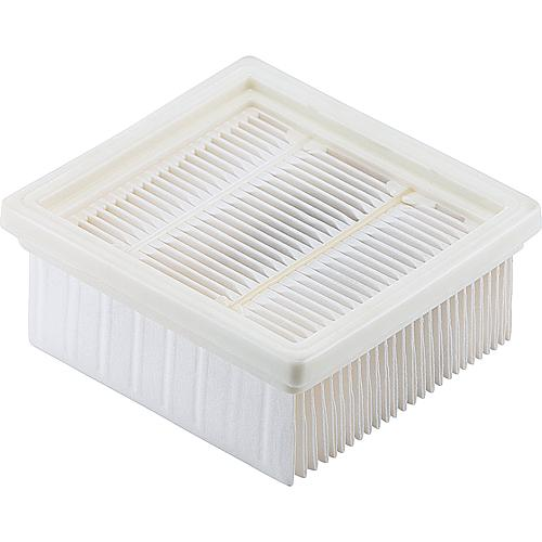 Flat folded filter for dry vacuum cleaner 