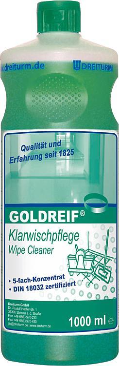 Clear Wiping Maintenance Dreiturm Goldreif 1 Litre Round Bottle