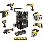 Battery set DeWALT 18 V, 8-piece, with 4x 5.0 Ah Li-Ion batteries