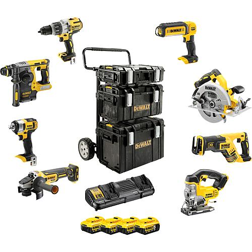 Battery set DeWALT 18 V, 8-piece, with 4x 5.0 Ah Li-Ion batteries Standard 1