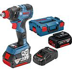 Bosch GDX 18V-200 C cordless drill, 18 V, with 2 x 5.0 Ah batteries and charger