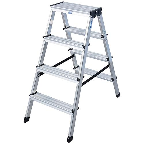 Double step ladder made of aluminium Standard 1