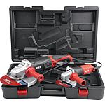 Flex angle grinder set L2100 + L801 in case