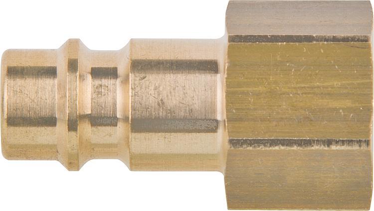 """Druckluft Stecknippel NW 7,2 mit Außengewinde 3//8 /"""" Messing"""