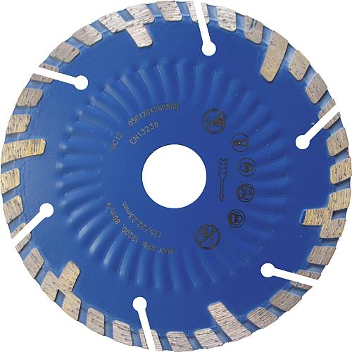 Diamond cutting disc, Ø 125 mm for wall chaser (80 063 50) Standard 1