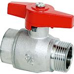 Ball valve, IT x ET with butterfly handle