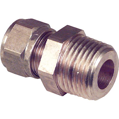 Compression fitting made of brass, conical thread (ET) Standard 1