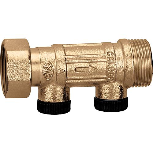 Backflow preventer, can be controlled, union nut-ET Standard 1