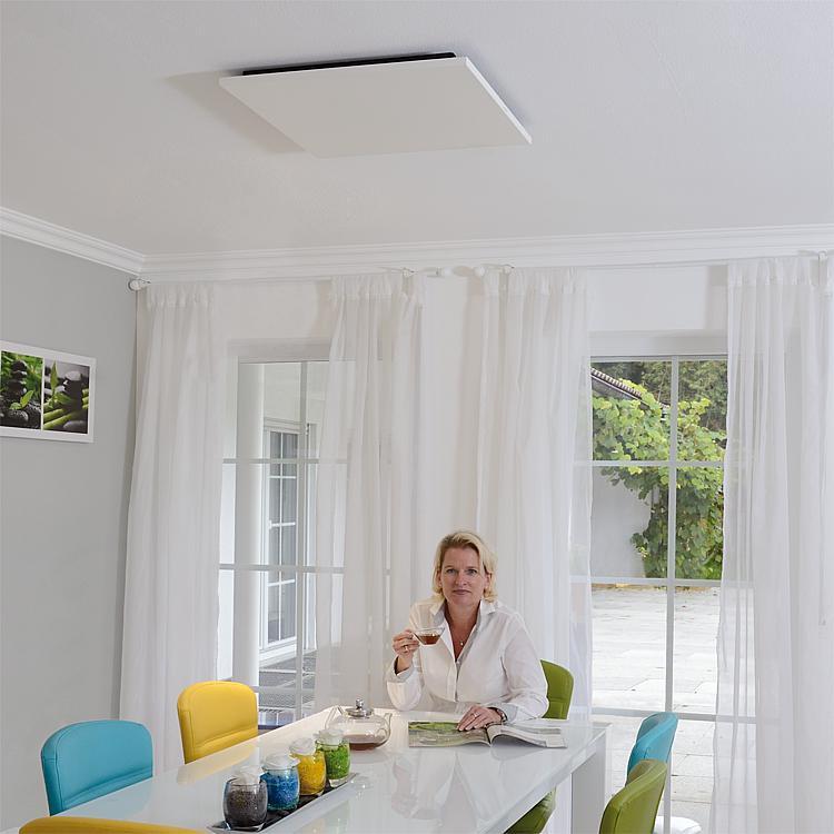 tbs infrarot heizung 600 watt stahl pulverbeschichtet wei f r deckenmontage. Black Bedroom Furniture Sets. Home Design Ideas