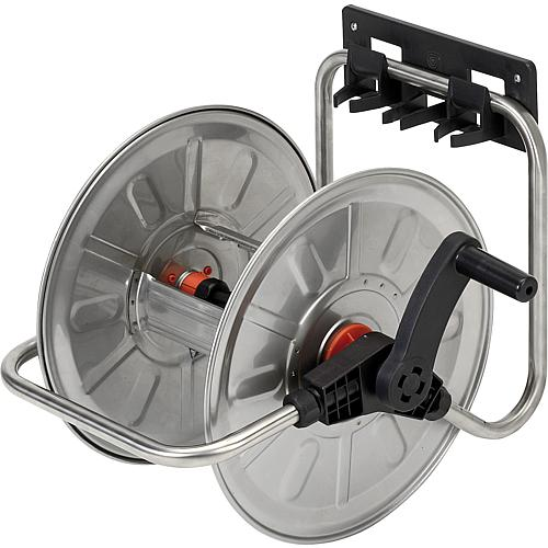 Wall-mounted hose trolley, model 4132 stainless steel Standard 1