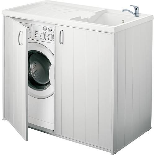 tbs waschtrog mit unterschrank mit 2 t ren lxbxh. Black Bedroom Furniture Sets. Home Design Ideas