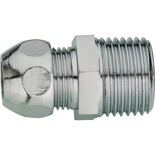 Chrome-plated fitting Straight screw connection (ET) Standard 1