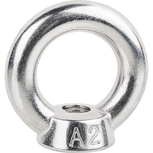 Ring nut, stainless steel A2 Standard 1