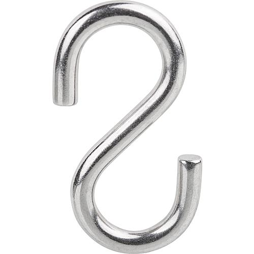 S-hook, stainless steel A2 Standard 1