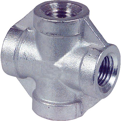 Stainless steel threaded fitting cross-piece (IT) Standard 1